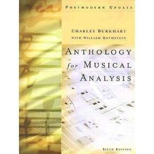 Anthology For Musical Analysis:Updated