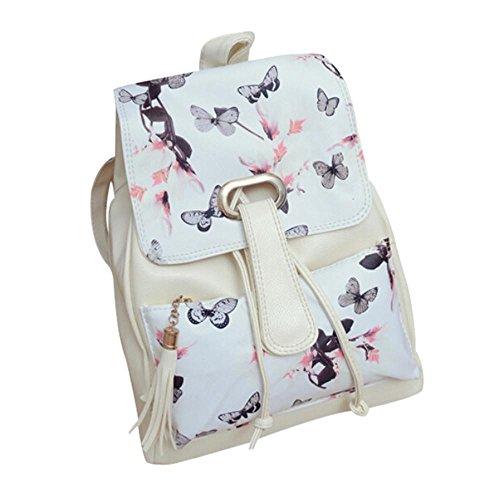 Charberry Girls School Bag Travel Backpack Satchel Print Rucksack (A)