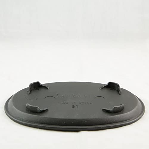 Oval Black Plastic Humidity Drip Tray for Bonsai Tree 9.5 x 6.5 x 1