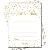 50 Advice Cards - Any Occasion - Wedding Advice Cards, Advice for the Bride - Retirement or Graduation Party, Baby or Bridal Shower Games