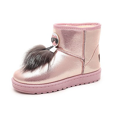 Comfort Boots UK4 CN36 Heel Novelty Suede Toe Round Snow US6 Fashion RTRY Women'S For Fluff Shoes Boots Booties Flat EU36 Lining Boots Winter Fall Ankle Boots 40wqRwxS