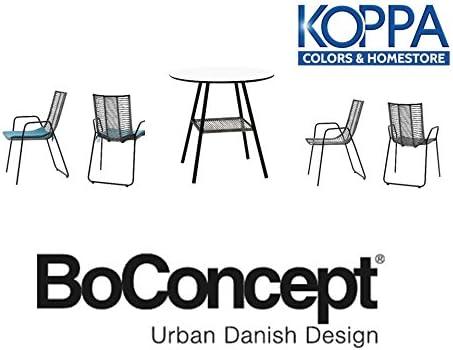 boconcept Juego de jardín compuesto de 4 sillas Elba y un mesa ...