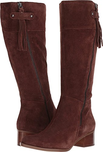 Naturalizer Women's Demi Riding Boot, Chocolate, 8.5 M US (Shoes Suede Naturalizer)