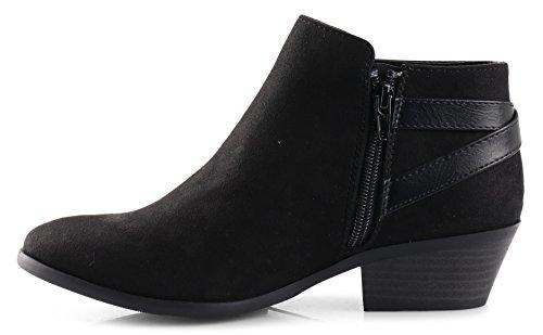 SODA Faux Suede Western Ankle Black
