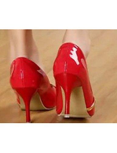 GGX/ Damenschuhe-High Heels-Lässig-PU-Stöckelabsatz-Absätze-Rot / Weiß white-us6 / eu36 / uk4 / cn36
