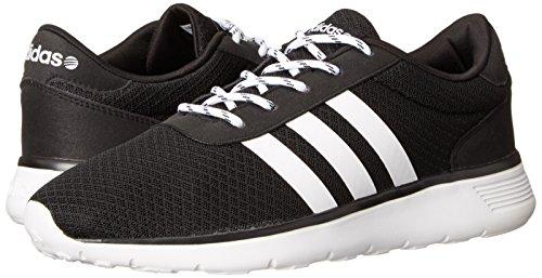 new concept 99546 5e542 Adidas NEO Womens Lite Racer Running Shoe,BlackRunning WhiteBlack,9.5