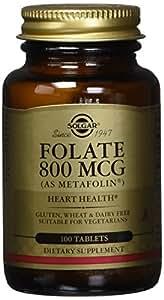Solgar – Folate (as Metafolin) 800 mcg, 100 Tablets