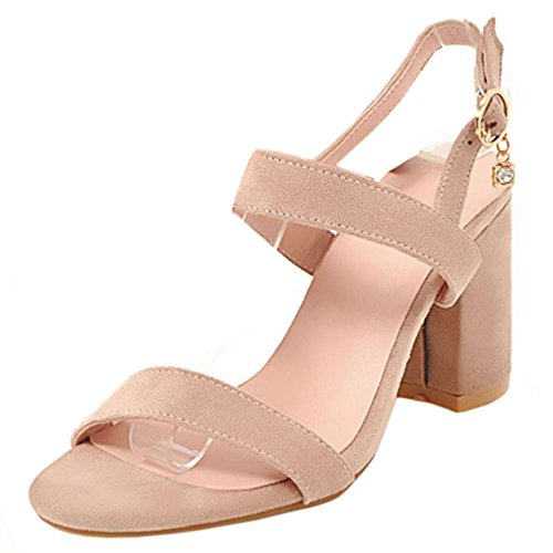 Zanpa Heels Fashion Pink Women 2 Sandals Block a71axUqrzw