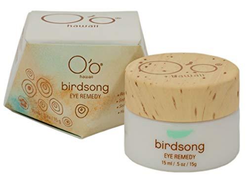 O'o Hawaii Birdsong Eye Remedy, Organic Eye Cream Treatment for Anti Aging and Fine Lines, 15ml