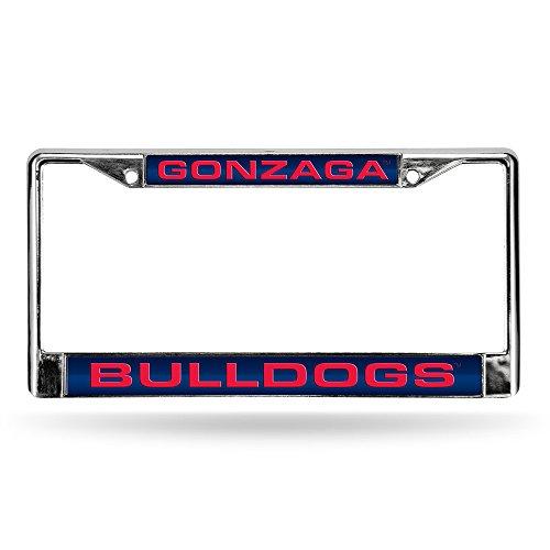 Rico NCAA Gonzaga Bulldogs Laser Cut Inlaid Standard Chrome License Plate Frame