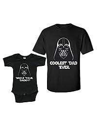 Matching Set -Coolest Dad Ever - Short Sleeve Infant Onesie & Adult T-Shirt