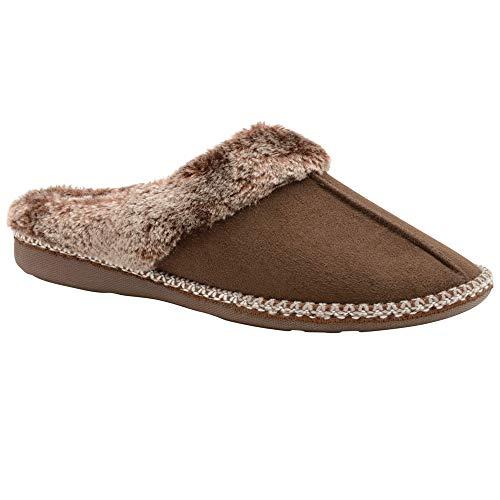 Ivanna Dunlop Femmes Brown Pantoufles Chocolate zx1xB
