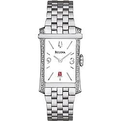 Bulova Diamond White Dial Stainless Steel Ladies Watch 96R187