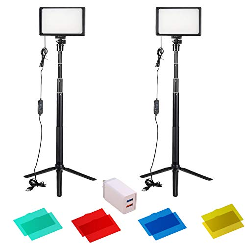 2 Packs Photography Lighting 120 led Lights Kits for Shooting Streaming Professional Stream Light for Video Recording…