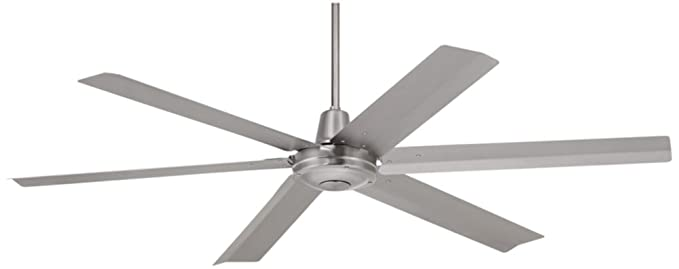 Attrayant 60u0026quot; Turbina Max Brushed Steel Outdoor Ceiling Fan