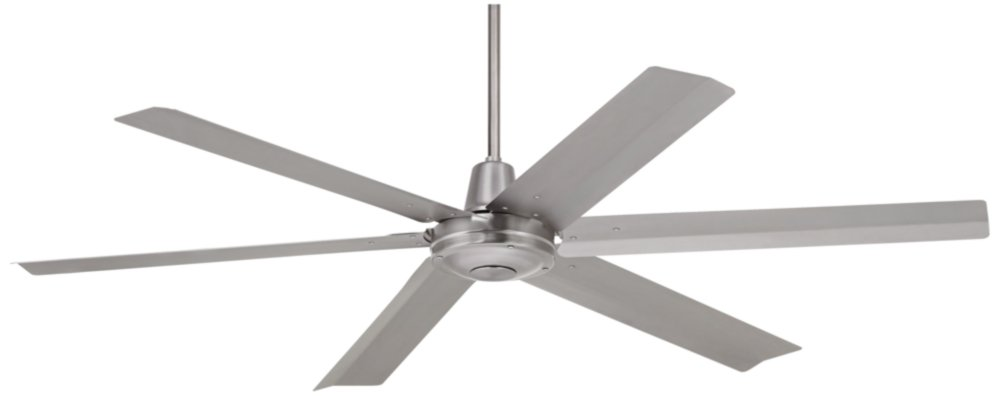 60'' Turbina Max Brushed Steel Outdoor Ceiling Fan