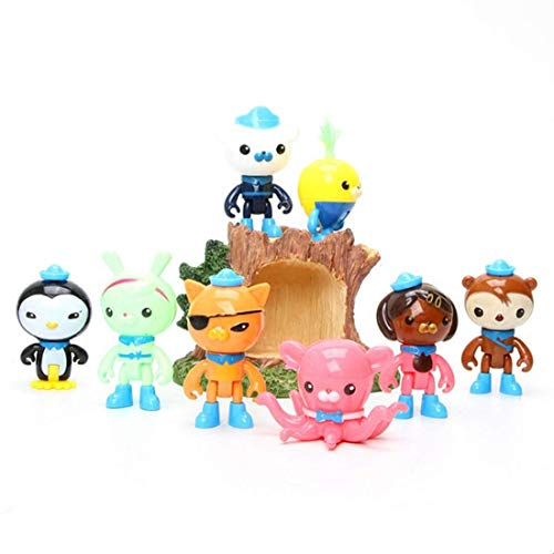 Fisher-Price 8 PCS Octonauts toy cake topper, cake decorations, birthday party decorations, children's toys, parties and collections -