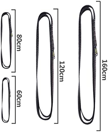 KAILAS High-Density Sling 60cm 80cm 120cm 160cm for Rock Climbing Ascender CE Certified Double Slings Endless 16mm 22KN Slings and Runners Climbing Webbing