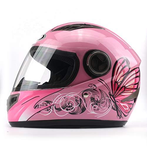 HJL Casco de la Cara Completa de los Hombres Casco de la Motocicleta eléctrica Casco de Lujo de la Cubierta Completa Four...