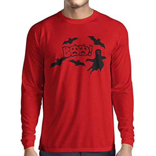 Long Sleeve t Shirt Men BAAA! - Funny Halloween Costume Ideas, Cool Party Outfits (XX-Large Red Multi -