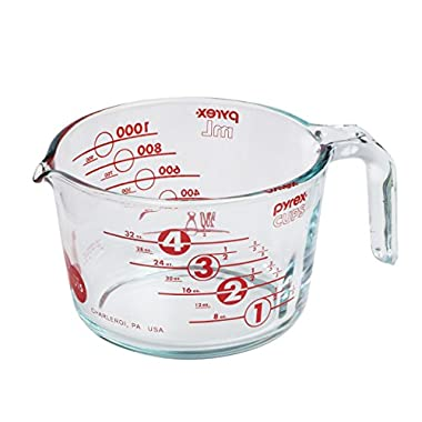 Pyrex 100 4 Cup 100th Anniversary Measuring Cup, Red