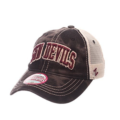 NCAA Arizona State Sun Devils Adult Women Dixie Women's Relaxed Hat, Adjustable, Black (Arizona State Sun Devils Visor)