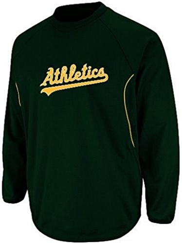 Mlb Hooded Therma Base - VF Oakland Athletics A's MLB Mens Majestic Authentic Therma Base Fleece Big & Tall Sizes (5XL)