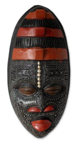 7b0464f8b5facc Home Décor NOVICA Decorative Ghanaian Large Sese Wood Mask Black Akan  Blessing Black 'Akan Blessing' 188200