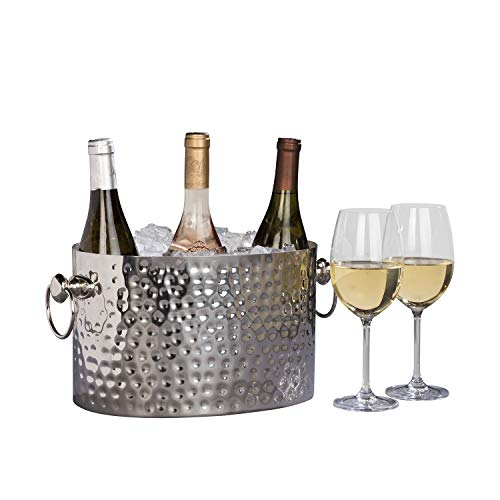 Chic Chill Handcrafted Artisan 3 bottle Champagne and Wine Chiller (Stainless Steel) -