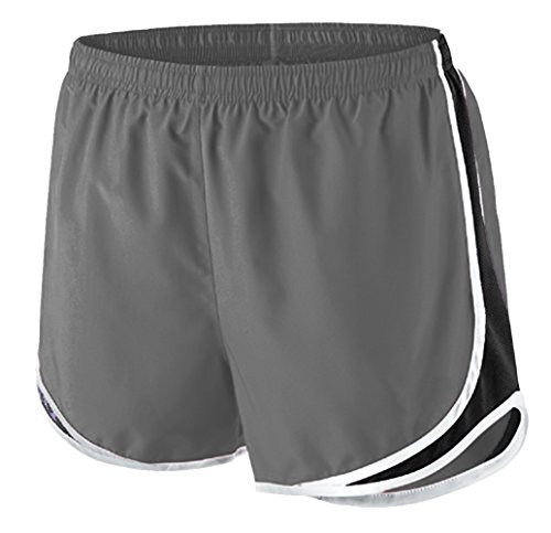 Epic MMA Gear Ladies Moisture-Wicking Track & Field Running Shorts by (XS, Grey/White)