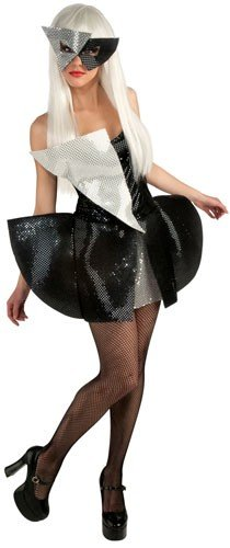 Lady Gaga Black Sequin Dress Teen Costume, Small