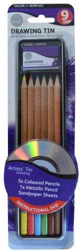 - Daler Rowney Simply Pencil Drawing Tin Set (9 Pieces)