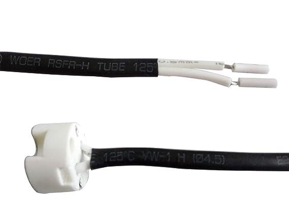Soporte para lámparas halógenas, LED o CFL de bajo voltaje, de 12 V, con tomacorriente de cerámica, para enchufes GU5.3/MR16/MR11/G4, 10 Pack GU5.3 12.0 ...