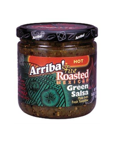 Arriba! Fire Roasted Green Salsa, Hot, 16-Ounce Jars (Pack of 3)
