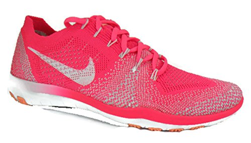 Nike Femmes Libre Focus Flyknit 2 Sneakers Taille Nous 10 M Racer Rose / Blanc