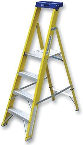 YOUNGMAN 527454 escalera 4 peldaños GRP plataforma [1] (certificado personificación): Amazon.es: Bricolaje y herramientas