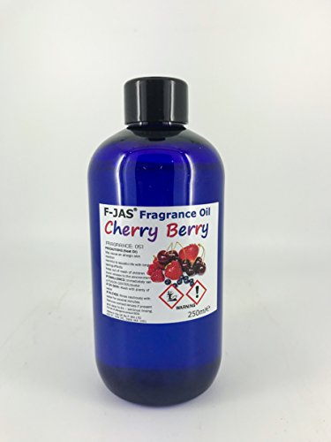 F-JAS Fragrance Oil for Candle, Bath Bomb, Wax Melt & Soap Making (250ml, Cherry Berry)