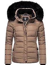 Navahoo Dames winterjas gewatteerde jas met afneembaar kunstbont Miamor XS-XXL