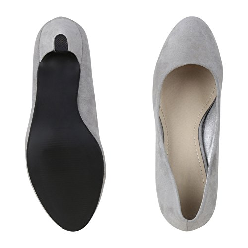 napoli-fashion - Cerrado Mujer, color gris, talla 40 EU