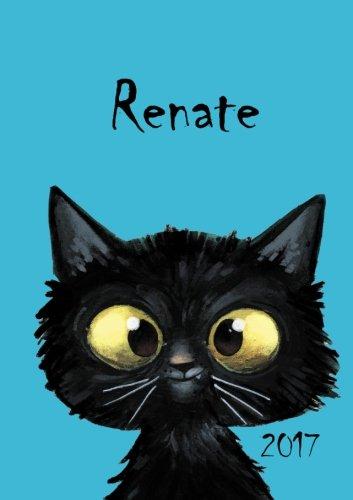 2017: Renate - Katzenkalender 2017 - DIN A5 - freche Katze - 1 Woche pro Doppelseite