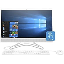 HP 24-inch All-in-One Computer, AMD A6-9225, 4GB RAM, 1TB Hard Drive, Windows 10 (24-f0030, White)