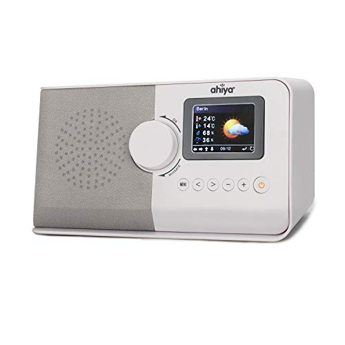 ahiya Radio Digital Internet Wi-Fi Radio Receiver Stereo Speaker Preset Recall Playtime Alarm Remote APP Button Control 2.4