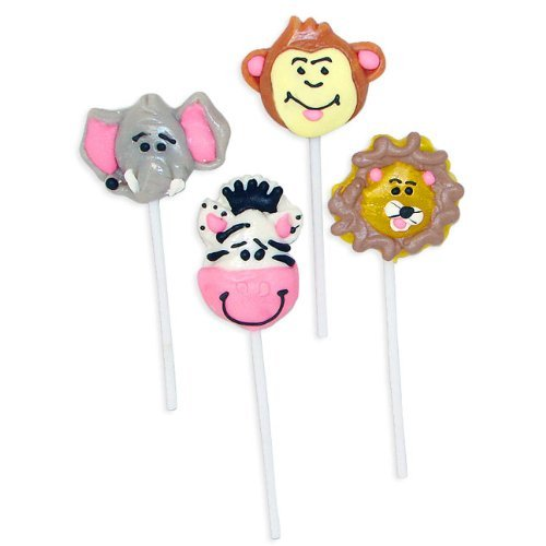 (Jungle Animal Zoo Lollipops (1 dz) (2 PACK))