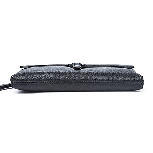 ZYXCC Portefeuille pour hommes en cuir sac à main première couche en cuir d'affaires sac à main de grande capacité portefeuille