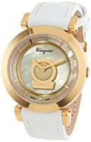 Salvatore Ferragamo Women's FQ4030013 Minuetto Gold Ion-Plated Coated Stainless Steel Mother-Of-Pearl Dial Diamond Watch from Salvatore Ferragamo