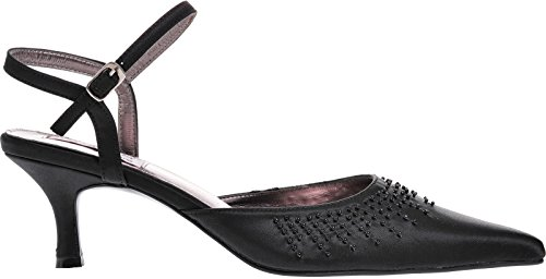 Ladies Lexus Low Heel Sandal with Beaded Design. Black W55ynE