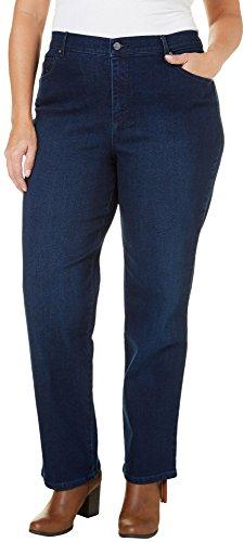 Gloria Vanderbilt Women's Plus Size Amanda Classic Tapered Jean, Portland Wash, 24W ()
