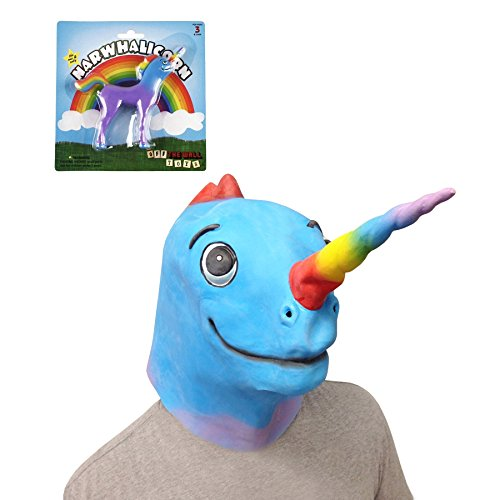 Underwater Creatures Costumes (Narwhalicorn Mask (The Original) with Narwhalicorn Bendable Toy - Off the Wall Toys)