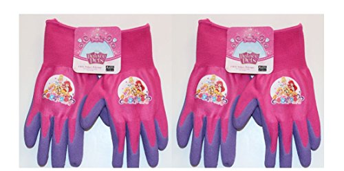 [MidWest Disney Palace Pet's Work Gloves for Girls (2-Pack) - with Latex Coating for Extra Gripping - Perfect for Play and] (Work Team Costumes)