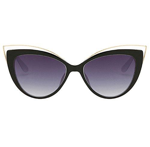 Sol Mujer UV400 De Negro Gafas Niñas Gato Moda Aire De Retro Al Libre Gafas Ojos Ax7r4qARY